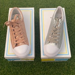 Fashion Shoes Bundle SZ 9 Rose Gold and Silver